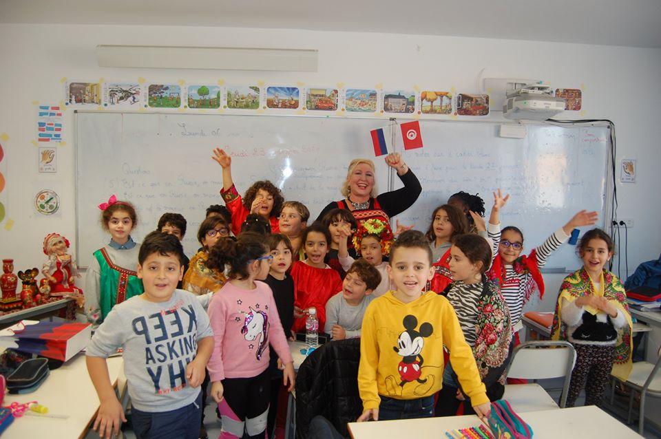Урок России во французской частной школе имени «РЕНЕ ДЕКАРТ» в Тунисе.