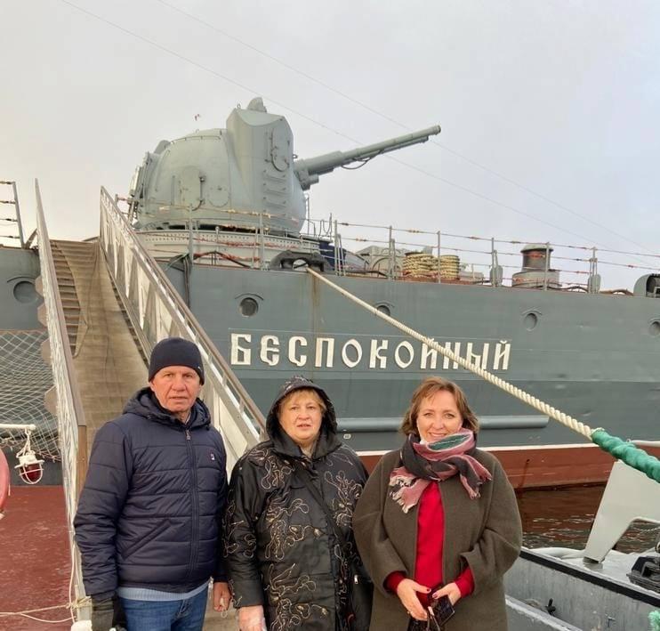 Корабль-музей  в городе Кронштадте